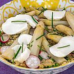 recette Salade de quinoa aux asperges, radis et mozarella