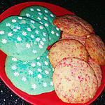 recette cookies reines des neiges et cookies pralines roses