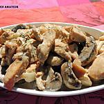 recette Émincé de poulet à l'estragon