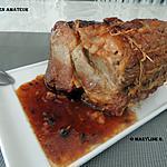 recette Rôti de porc sauce au miel et moutarde