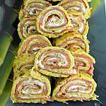recette Roulés de saumon et légumes (compaible dukan)