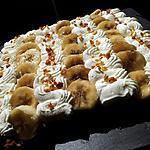 recette Tarte au bananes-chantilly sur pâte biscuité