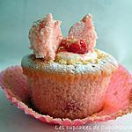 recette Cupcakes Toute Rose Façon Cheesecake à la Framboise
