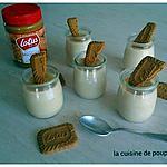 recette créme dessert façon danette au spéculoos au thermomix ou sans