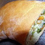 recette Brioche aux 3 legumes et crevettes