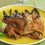 recette Crêpes salées aux asperges et aux cèpes