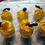 recette verrines de pommes au miel et meringues