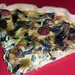 recette tarte salé poireaux knaccki rapide facile