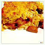 recette Gratin de pâtes Knacki, champignons