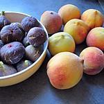 recette Confiture pêches & figues