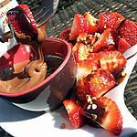 recette Fondue au nutella et fraises