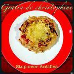 recette Gratin de christophine, cive & lardons