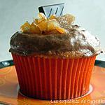 recette Cupcakes Coeur Fondant au Chocolat à l'Orange & au Gingembre Confit