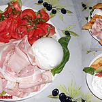 recette ASSIETTE DU SOIR A L'ITALIENNE