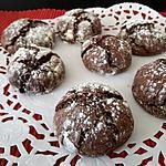 recette Biscuits craquelés au chocolat
