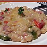recette Crozetto aux lardons et poivrons