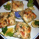 recette Bricks aux crevettes et féta