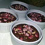 recette Fondants individuels au chocolat et au eclats de praline