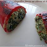 recette Piquillos farcis au chèvre et épinards