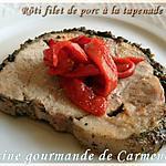 recette Rôti de filet de porc à la tapenade