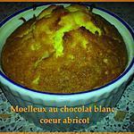 recette Moelleux au chocolat blanc, coeur abricot