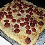 recette Tarte flambée a la saucisse