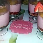 recette Verrine mousse de fraise express au spéculoos
