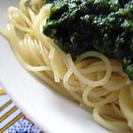 recette Capelini  di sugo al spinaci