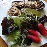 recette aubergines et petits poivrons au mascarpone