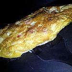 recette Omelette en chausson au knackis et 4 fromages