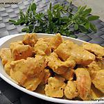 recette Escalopes au safran des Indes et lait de coco