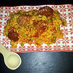 recette Riz poêlée au chorizo et petit pois