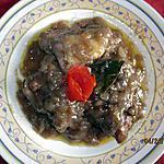 recette Hauts de cuisses de poulet au Bergerac rouge