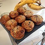 recette Muffins à la banane et pépites de chocolat