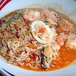 recette Arroz de Marisco (riz tomates et fruits de mer)