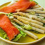 recette Salade de pointes d'asperges à la truite fumée