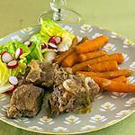 recette Mijoté de porc à la bière, aux oignons et carottes nouvelles