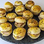 recette Minis hamburgers au foie gras