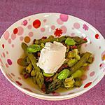recette Salade aux asperges vertes et aux tomates confites
