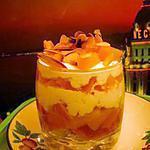 recette verrines de peche au mascarpone