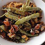 recette Haricots verts aux amandes caramélisées