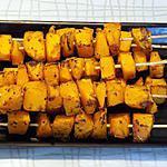recette Brochettes de courge butternut