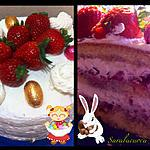 recette Layer cake à la fraise (chantilly mascarpone)