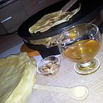 recette Crêpes au miel-citron et amandes