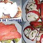 recette MON DUO DE TARTINES