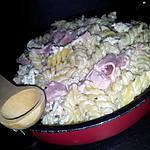 recette Fusilli au jambon-boursin