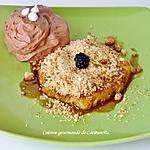 recette Ananas rôti au rhum avec sa mousse au chocolat parfumée à l'orange