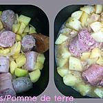 recette ANDOUILLETTES/POMME DE TERRE  au COOKEO
