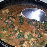 recette Sauce tomate aux épinards et aux boulettes de sardines