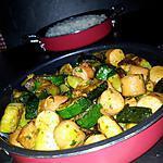 recette Courgettes sautées au knackis